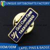 中国製熱い販売OEMのエナメルのカスタム名前入りの記章の金属