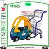 Het plastic Boodschappenwagentje van de Kinderen van de Jonge geitjes van de Supermarkt van het Metaal