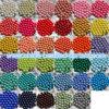 les couleurs solides de mode de 8-20mm desserrent les talons volumineux ronds acryliques pour le collier de bracelet de bracelet