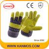 Обратное Свинья зерна кожаные промышленного Рабочие перчатки (22007)