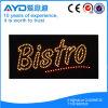 Retângulo de Hidly o sinal do diodo emissor de luz dos restaurantes de América