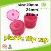 Tampão transparente da aleta do parafuso do plástico da cor-de-rosa 24mm