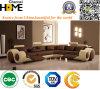 Brown e sofà sezionale di cuoio beige con i Recliners (HC2002)