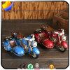 Retro Drie - Decoratie Op wielen van de Decoratie van het Huis van de Tank van de Storting van de Hars van het Spaarvarken van de Motorfiets de Creatieve