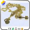 Chaîne principale de haltère en métal d'or de forme