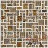 Azulejo de mosaico de cerámica de la pared de la porcelana cristalina del esmalte del color de Brown de la alta calidad del precio razonable