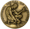 Medalla plateada bronce del recuerdo de la educación de la antigüedad de la aleación del metal