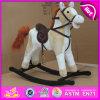 O cavalo de balanço de madeira do contrapeso, cavalo de balanço de madeira da venda quente, caçoou o brinquedo de madeira do cavalo de balanço, cavalo de balanço de madeira barato W16D068