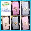 iPhone 7/6s/6のための愛情のあ中心のリングのホールダーとの電気めっきの透過ケース