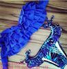 Qualität mehrschichtiger blauer reizvoller Wimsuit Bikini
