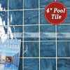 una piscina Blu-Grey Tiles (BCP701) di 4 '' x4 '' Wave Pattern Porcelain