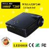 Projecteur manuel de soutien 720p/1080P 3D de pouce 320*240 du foyer 20-80