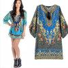 Neuer reizvoller V-Ansatz BlumenPrintted Kleid (50565)