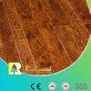 Suelo laminado V-Grooved grabado AC4 de la nuez dura E0 del anuncio publicitario 8.3m m