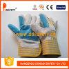 Горячие продавая перчатки Dlc323 коровы Split кожаный