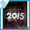 Etiqueta engomada blanca de la nieve de la Feliz Año Nuevo de la Feliz Navidad