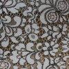 Tissu noir et blanc de lacet de la couleur N/C de Maxed pour des vêtements