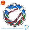 Изготовленный на заказ серебряная медаль металла бейсбола высокого качества