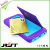 Caja híbrida del teléfono celular de Silicone+Plastic con la ranura para tarjeta (RJT-0126)