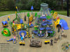 Kaiqi Climbing e Tunneling Adventure Set per Playground del Children (KQ50100A)