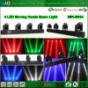 100% brandnew ha soddisfatto l'indicatore luminoso commovente del fascio delle 4 teste del LED