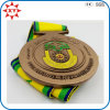 2015 premio Sports Souvenir Metal Medal con Ribbon