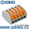 Conector anaranjado del alambre del empuje 32A del Pin de la conexión fácil equivalente 5 del Ce