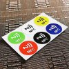 Easy à moda 6*Universal Waterproof Nfc-Tag Stickers RFID Adhesive