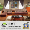 Base di legno Fabric Material Sofa Set (sofà di 6602# -1 impostato)