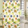 印刷された美しいサテンのシャワー・カーテン