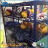 Gaiola segura comercial do armazenamento do rolamento do engranzamento de fio com rodas