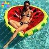 Aufblasbare Wasser-Spielzeug-Wassermelone-Zitrone, die Belüftung-Luft-Pool-Gleitbetriebe schwimmt