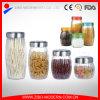 Os melhores doces de venda do recipiente de vidro do alimento rangem o frasco de bolinho de vidro desobstruído