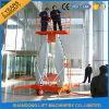 Elevadores de alumínio do homem da plataforma hidráulica do mastro para a venda