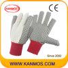 Продать ПВХ пунктир хлопка холст промышленной безопасности Рабочие перчатки ( 410022 )null