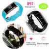 Bracelet de Bluetooth avec la fréquence cardiaque et la pression sanguine (X9)