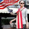 Écharpe de Knit d'indicateur de cinq d'étoiles de mode dames de conception l'écharpe d'indicateur des Etats-Unis