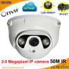 비바람에 견디는 1080P IR Dome 2.0 Megapxiel P2p IP Web Cam