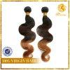 8A rang 100% de Maagdelijke Kleur van Omber van de Golf van het Lichaam van het Menselijke Haar