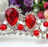 Parte superiore rossa di occasione di cerimonia nuziale di promenade del sostenitore della lega del diamante