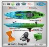 Plastikfischerboot-Kajak mit Paddel für Erholung