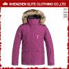 Куртка Snowbard зимы хорошей формы женщин с шерстью клобука (ELTSNBJI-40)