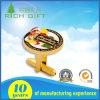 Kundenspezifischer Auto-Firmenzeichen-Form-Gold gravierter Manschettenknopf mit weichem Decklack