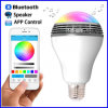 Colore senza fili astuto di controllo di APP dell'altoparlante di Bluetooth dell'indicatore luminoso di lampadina del LED