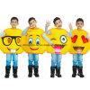 Costume divertente del partito del fumetto di carnevale del fronte di Emoji per i capretti (CPGC70013X)