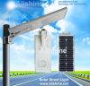 옥외 야드 정원 램프는 보장 5 년을%s 가진 1개의 태양 LED 가로등에서 모두를 통합했다