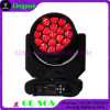 De Disco Light 19X15W LED Moving Head van Eye RGBW 4in1 Stage van de bij