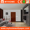 Blanco del papel de empapelar 3D del PVC que hace espuma para las paredes