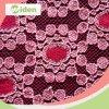Coton de fantaisie de couleur de rouge vif et tissu net de lacet de nylon