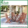 나무로 되는 접히는 정원 테이블 세트